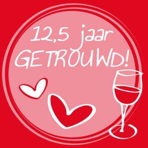 twaalfeneenhalf jaar getrouwd 12,5 jaar | MijnFeestdoek.nl twaalfeneenhalf jaar getrouwd