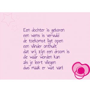 Bedwelming gedicht | MijnFeestdoek.nl #VD12
